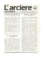 L'arciere cacciatore novembre dicembre 1987