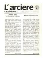 L'arciere cacciatore settembre ottobre 1987