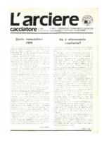 L'arciere cacciatore settembre ottobre 1988
